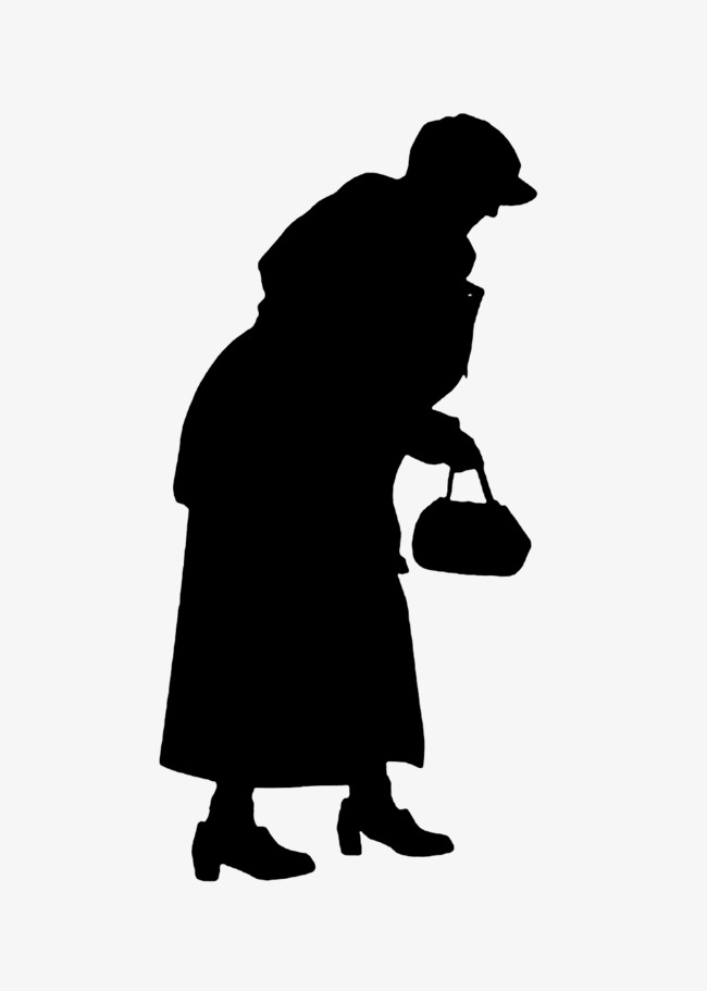 650x911 Bag Lady Silhouette, Sketch, Old People Png Image And Clipart