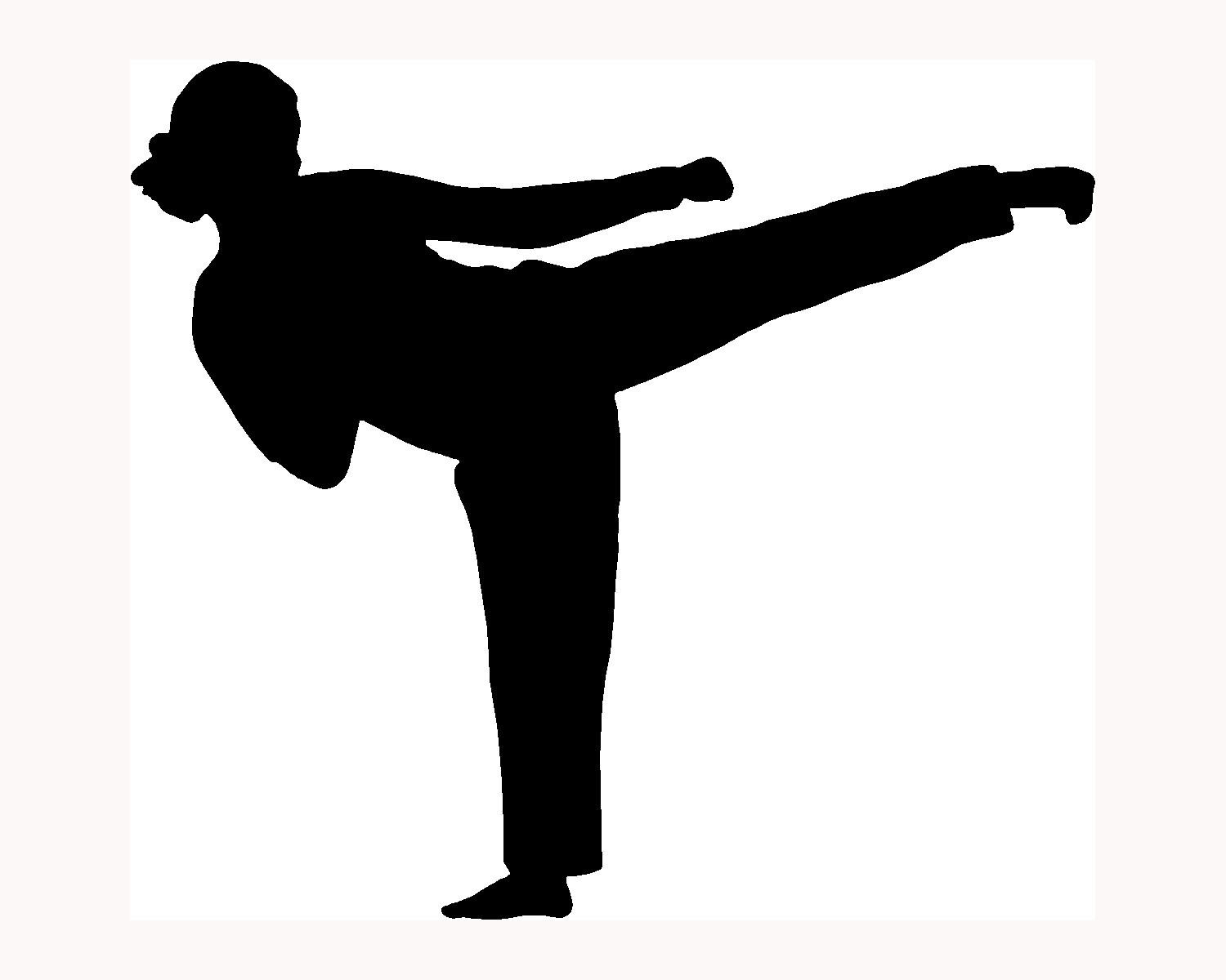 1500x1200 Clipart Karate Girl Silhouette Cliparts Free Download Clip Art