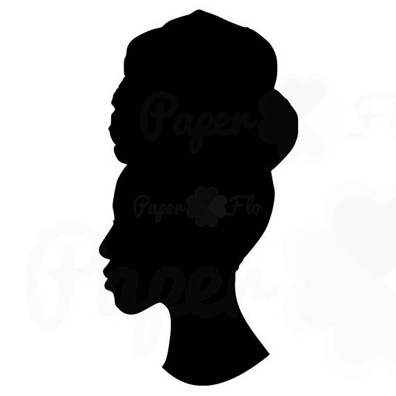 570x570 Headwrap Woman Silhouette Svg Clip Art Head Wrap Png Files