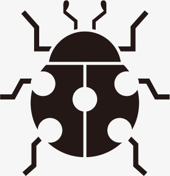 334x345 Ladybug, Animal Silhouette Contour, Vector Animals Png And Vector