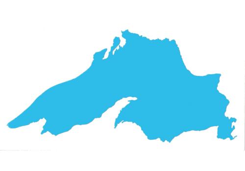 500x350 Lake Superior Silhouette Sticker