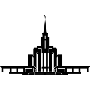 300x300 Lovely Lds Temple Stencil Salt Lake Silhouette Clip Art At Clker