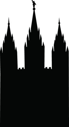 236x431 Salt Lake City Temple Silhouette Clipart Cutting Crafts