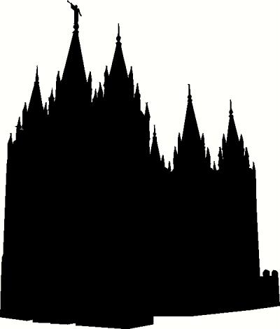 400x470 Utah Salt Lake City Temple Silhouette Vinyl Decal Car Decal