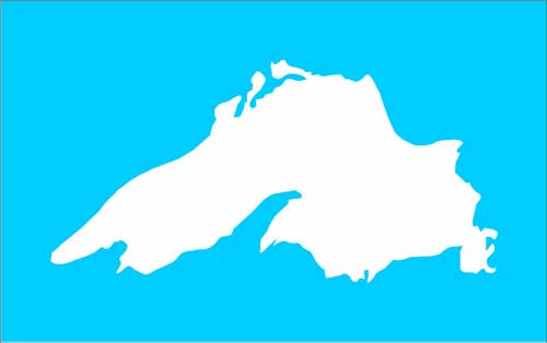 500x314 Lake Superior Silhouette Stencil 4 Sizes Available