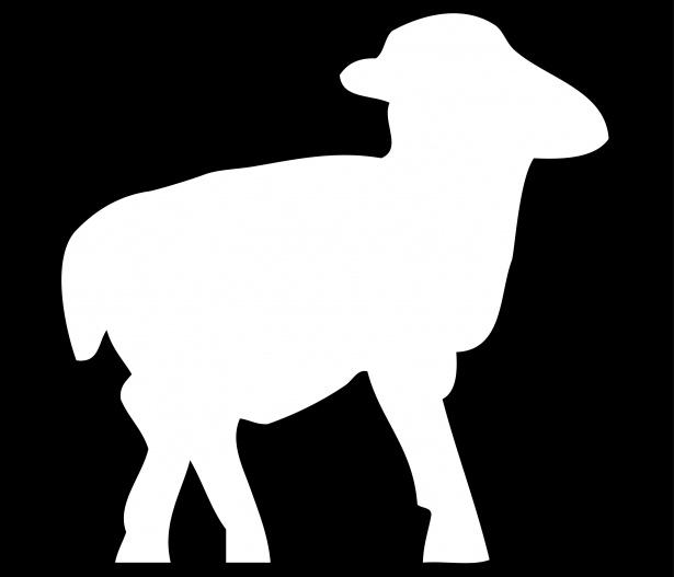 615x527 Lamb, Sheep White Silhouette Free Stock Photo