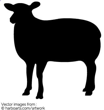 335x355 Download Sheep Silhouette