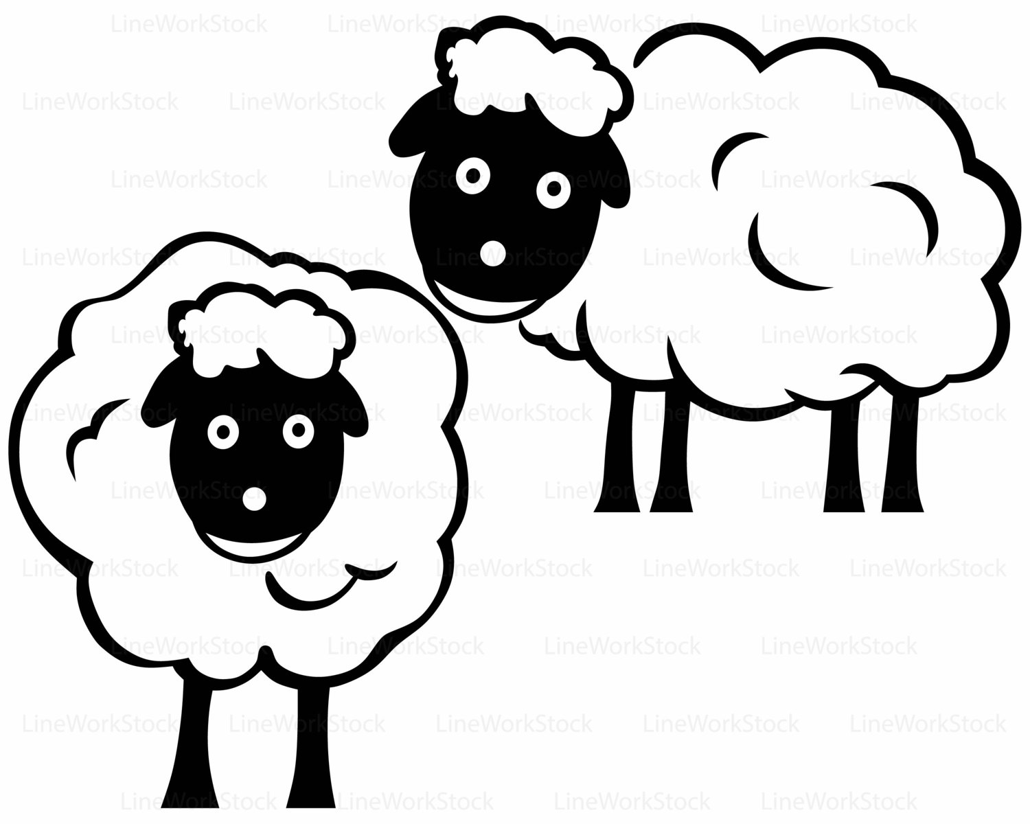 lamb silhouette clip art at getdrawings com free for personal use rh getdrawings com clip art sheep and goats clipart sheets