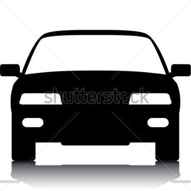380x380 Car Front Silhouette View Concept Illustrations Earlyjob.site