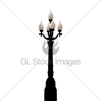 325x325 Set Of Vintage Various Forged Lampposts Gl Stock Images