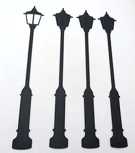 266x300 Silhouette Lamp Post Die Cuts Embellishments