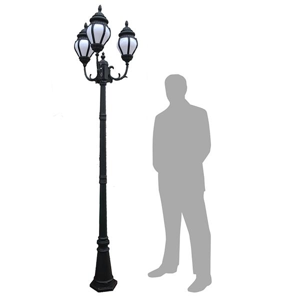 600x600 Triple Head Lamp Post The Propz Company