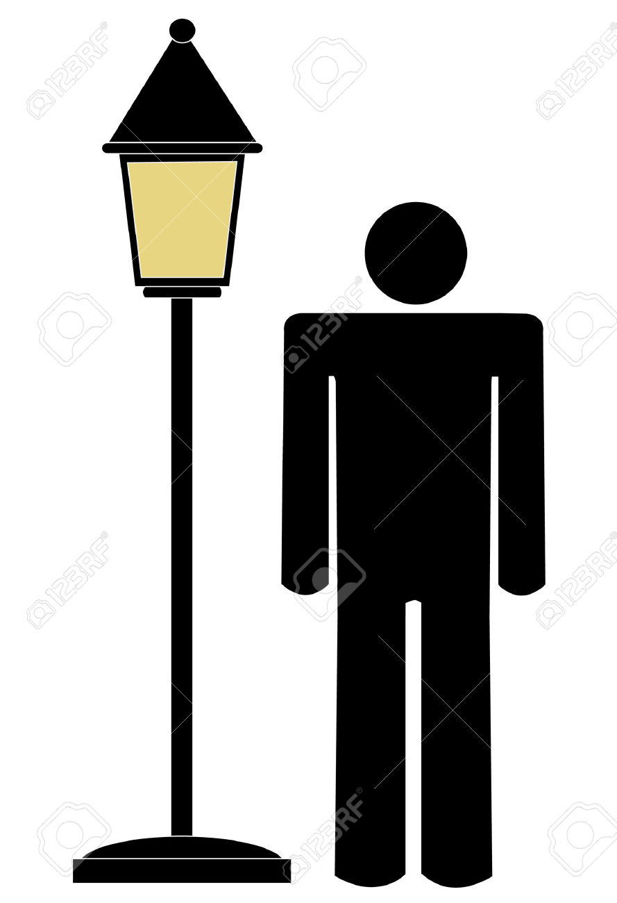 889x1300 Lamp Post Clipart Vector