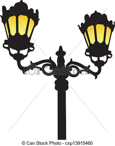 369x470 Street Light Clipart Silhouette