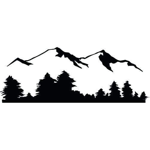 501x501 Mountain Landscape Silhouette Mountain Landscape Silhouette Nature