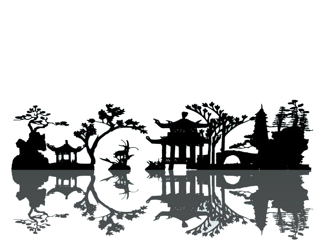 658x513 China Silhouette Landscape Painting