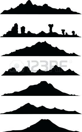 282x450 Mountain Landscape Silhouette Mountains Silhouette By Mountain