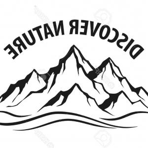 300x300 Stock Illustration Mountain Vector Black Landscape White
