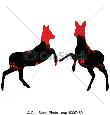 450x470 Doe Venison Deer Animal Silhouettes In Wild Nature Forest