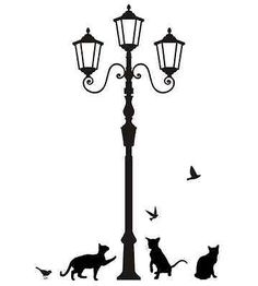 236x262 Lamp Post Clipart Silhouette