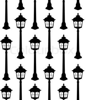 274x320 Old Lantern Silhouette Vector Illustration Stock Vector Colourbox