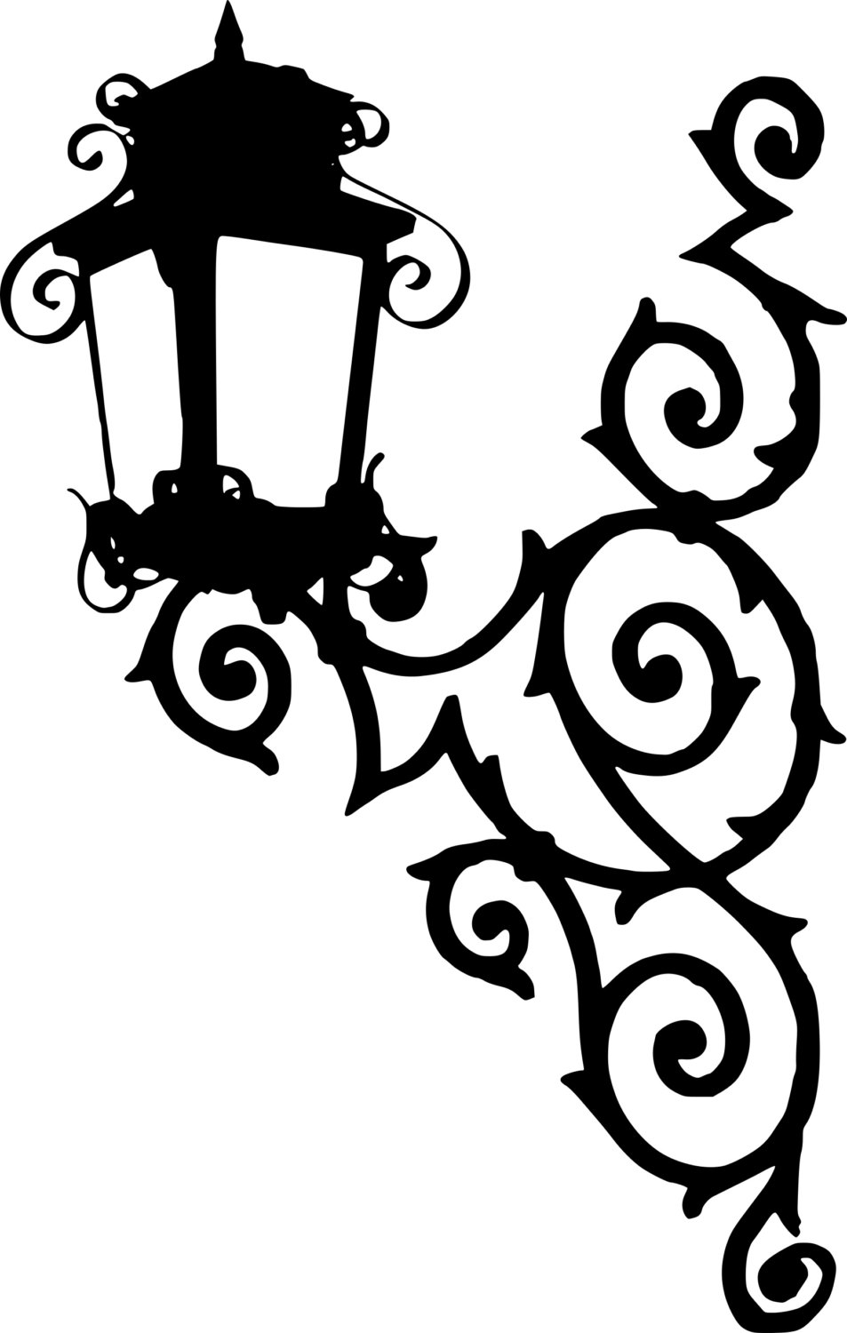 953x1500 Lantern Silhouette Clipart Street Light Lamps