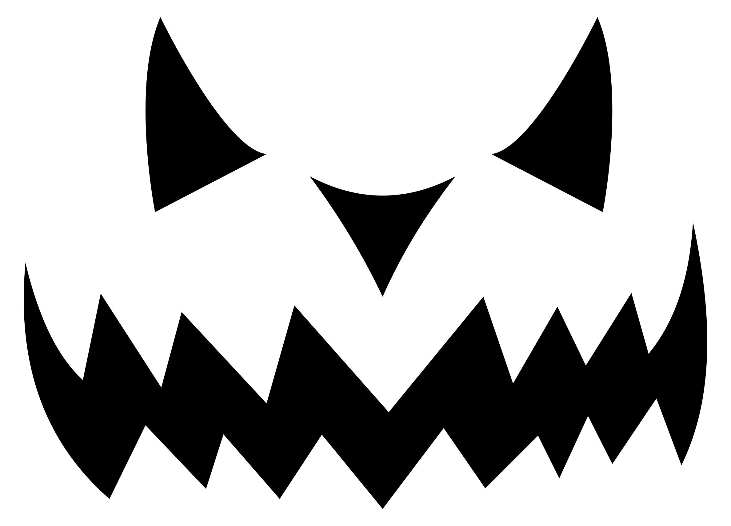 2376x1711 Evil Jack O Lantern Silhouette Clipart