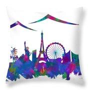 180x180 Las Vegas Skyline Silhouette Iii Digital Art By Ricky Barnard