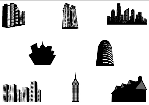 501x352 Building Clipart Vector