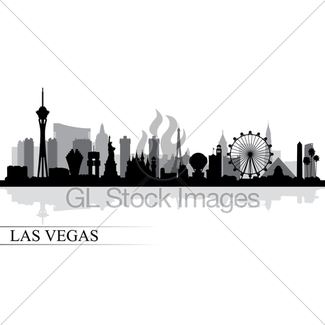 325x325 Las Vegas City Skyline Silhouette Background Gl Stock Images