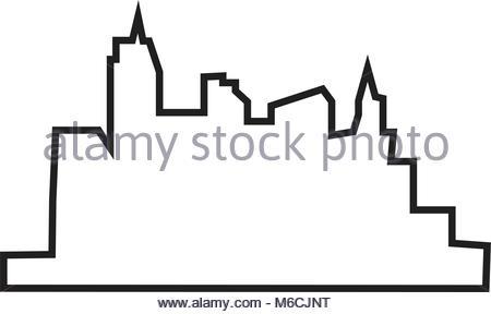 450x288 Las Vegas Skyline Silhouette On Sunset Background Stock Vector Art