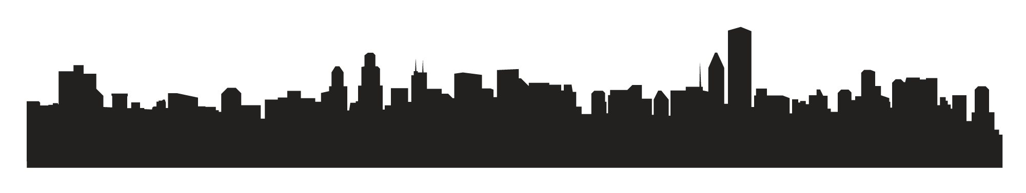 2000x377 City Skyline Clipart