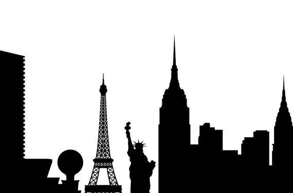 570x377 Las Vegas Skyline Silhouette