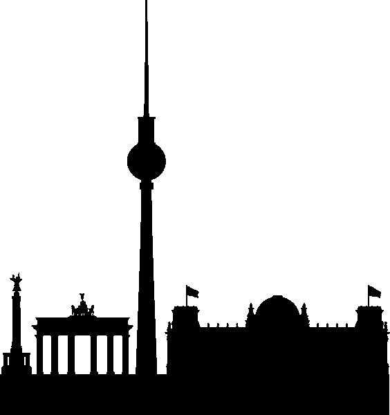 564x600 Las Vegas Skyline Silhouette Clipart