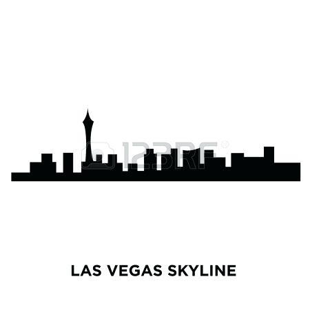 450x450 Las Vegas Skyline Silhouette S Las Vegas Skyline Silhouette Vector
