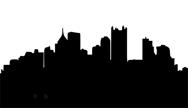 600x346 Pittsburgh Skyline Outline