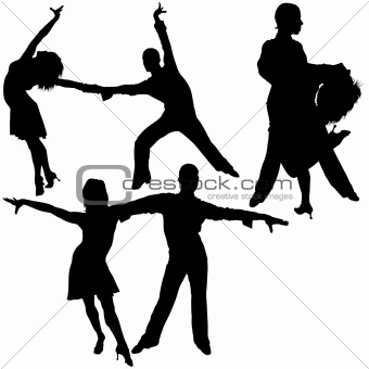 340x340 Image 1680975 Latino Dance Silhouettes From Crestock Stock Photos