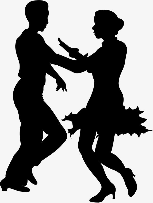 650x860 Cartoon Romantic Hand Painted Latin Dance Silhouette, Latin Dance