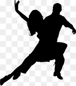 260x293 Black Romantic Double Cartoon Latin Dance Silhouette, Latin Dance