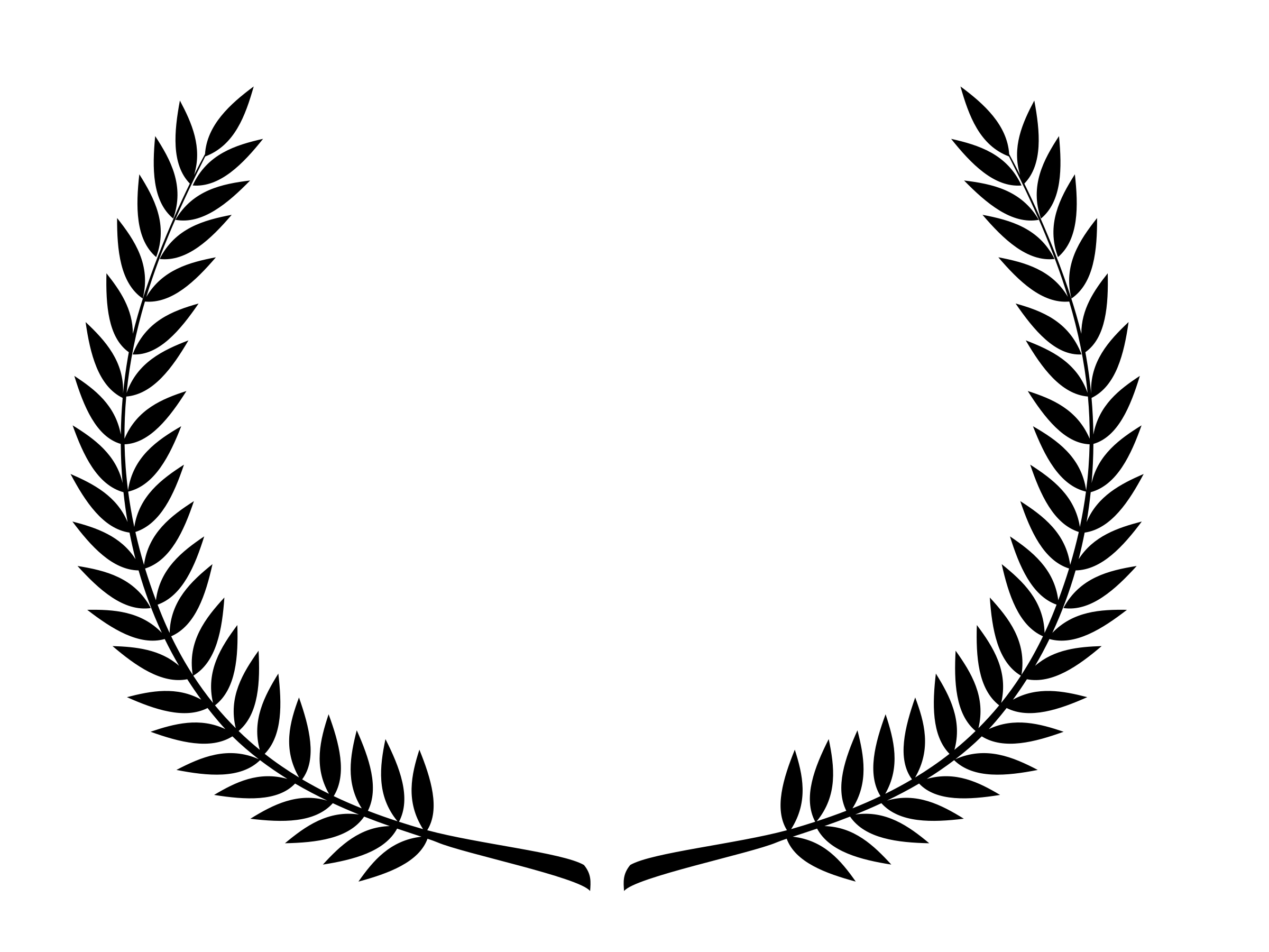 2400x1800 Laurel Wreath (Black) Icons Png