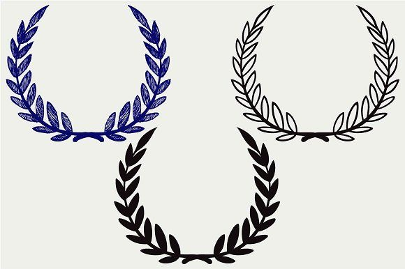 580x386 Laurel Wreath Svg Icons And Graphics