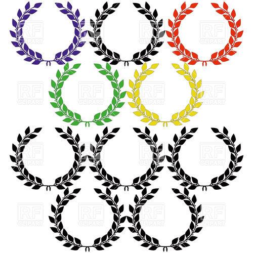 500x500 Simple Laurel Wreath Royalty Free Vector Clip Art Image