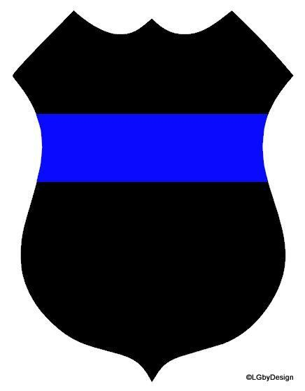 436x559 Police Badge Decal With Stripe This Car Decal Design Is Perfect