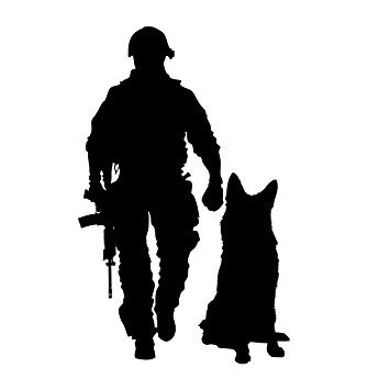 355x355 6x4 Military Combat K9 Tactical Police Law Enforcement Dog United
