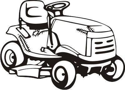 400x288 Lawn Mower Silhouette Clipart