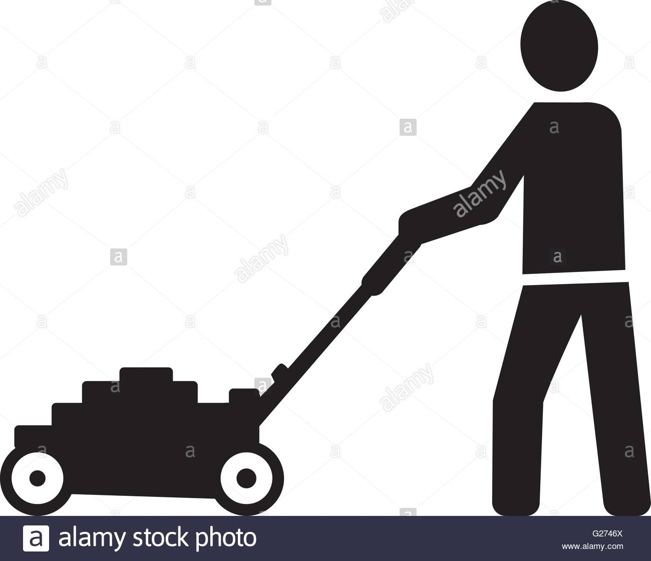 1300x1120 Lawn Mower Stock Vector Images