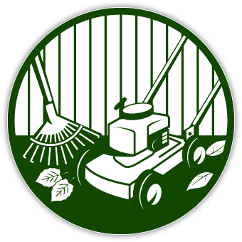 340x340 Lawn Mowing Silhouettes Clipart