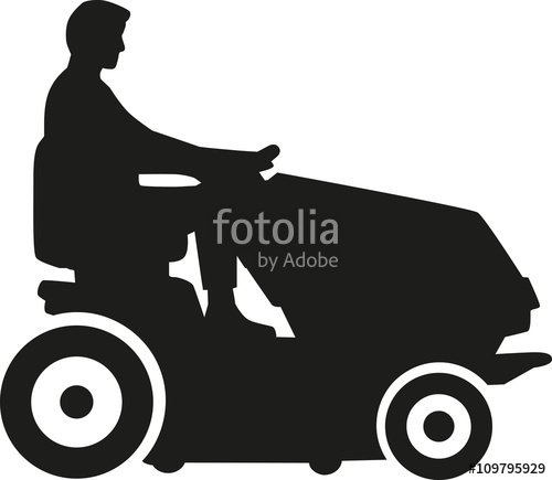 500x435 Lawn Mower Silhouette Stock Image And Royalty Free Vector Files