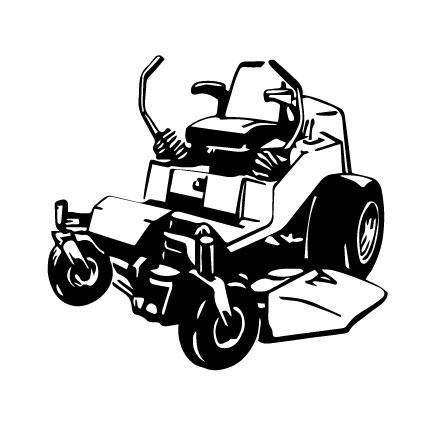 432x432 Zero Turn Mower Lawn Mower Outline Svg Digital Download Cuttable