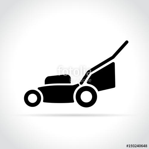 500x500 Lawn Mower Icon On White Background Stock Image And Royalty Free